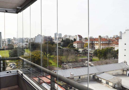 Balcón con vista abierta